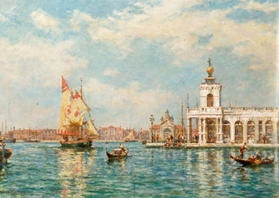 Old Custom House, Venice, Italy Fine Art Print by Bernard Finnigan Gribble