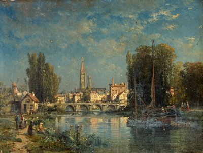 View on the River Fine Art Print by G. Kinnassey