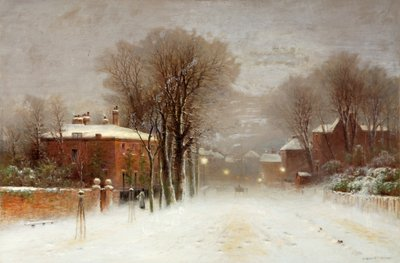 Winter Scene, Hampstead Heath Fine Art Print by Robert Finlay Mcintyre