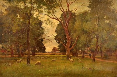 The Old Church Green, Wargrave-on-Thames Fine Art Print by Ernest Parton