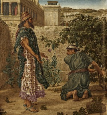 King Ahab's Coveting - Naboth Refuses Ahab his Vineyard by Thomas Matthews Rooke - print