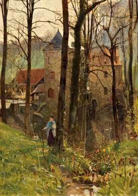 The Old Mill, Boulogne Fine Art Print by Charles W. Wyllie