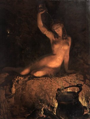 An Incantation [A Bacchante] by The Honourable John Collier - print