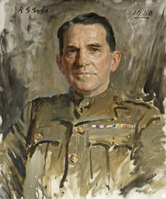 Lt Col J.V. McCormack MC Wall Art & Canvas Prints by Reginald Grenville Eves