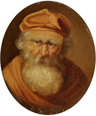 Portrait of an Old Man Fine Art Print by Anonymous
