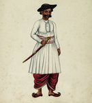 Collector's Servant Fine Art Print by Indian School