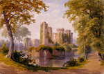 View of Raglan Castle Postcards, Greetings Cards, Art Prints, Canvas, Framed Pictures, T-shirts & Wall Art by G. M. Rolls