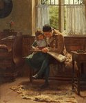 The Scrap Book by Frederick Richard Say - print