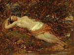 Study for Reclining Nude by The Honourable John Collier - print