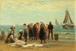 Fisherwomen at Scheveningen by Mrs Edith Hume - print