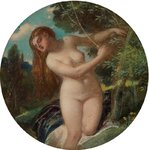 The Wood Nymph by The Honourable John Collier - print