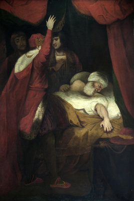 Henry VI, Pt. 2, Act III, Sc. iii, The Death of Cardinal Beaufort. by Joshua Reynolds - print
