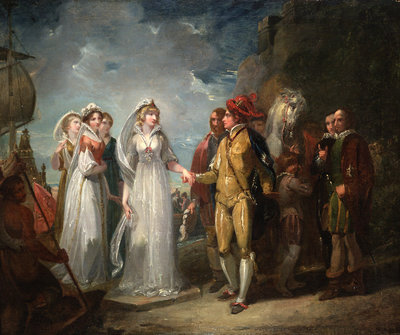 Love's Labour's Lost, Act II, Sc. i by Thomas Stothard - print