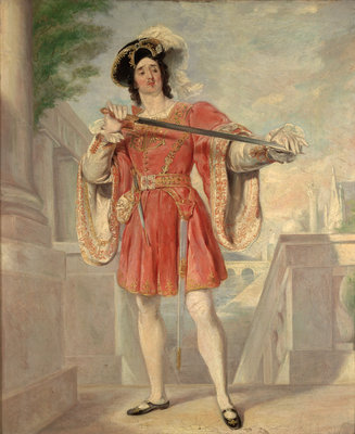James William Wallack (c. 1794-1864) as Mercutio. Romeo and Juliet, Act III, Sc.i by Nicolas Jospeh Crowley - print
