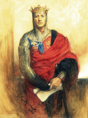Lewis Waller as Henry V by Arthur Hacker - print