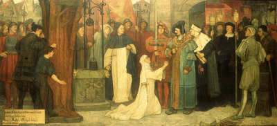 Measure for Measure, Act V, Sc. i, Isabella appealing to the Duke by Frederick William Davis - print