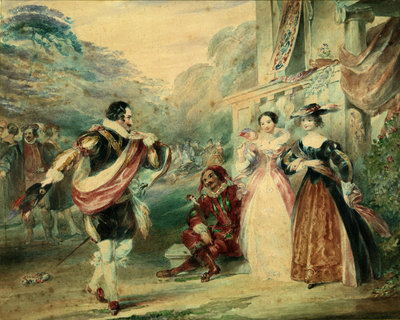 As You Like It, Act I, Sc. ii. A scene by James Stephanoff - print