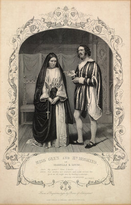 Miss Glyn and Mr Hoskins as Isabella and Lucio by Anonymous - print