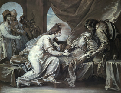 Lear and Cordelia by Benjamin West - print
