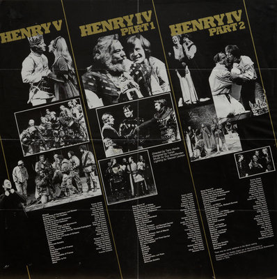 Henry V, Henry IV Part 1, Henry IV Part 2, 1975 by Terry Hands - print