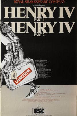 Henry IV Part 1 and Part 2, 1980 by Bill Alexander - print