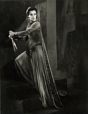 Macbeth 1955, Lady Macbeth grasps the bloodied daggers by Angus McBean - print
