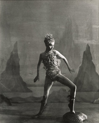 The Tempest 1952, Margaret Leighton as Ariel by Angus McBean - print
