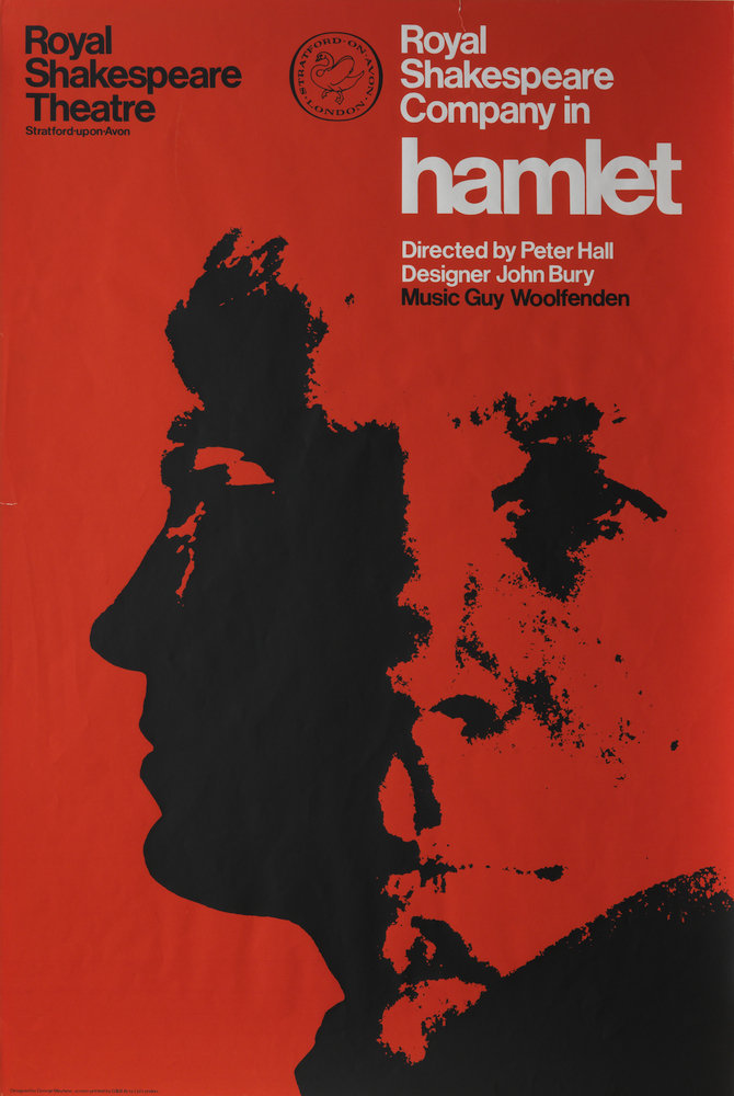 Hamlet, 1966 - Royal Shakespeare Company Posters