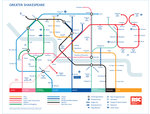 Greater Shakespeare Map poster by Royal Shakespeare Company - print