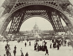Beneath the Eiffel Tower Fine Art Print by Adolphe Giraudon
