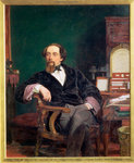 Charles Dickens Fine Art Print by Peter Edwards