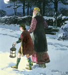 King Wenceslas Fine Art Print by Janet and Anne Johnstone