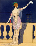 Farewell at Night Fine Art Print by Georges Barbier