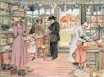 The General Store, 1899. From The Book of Shops Fine Art Print by American School