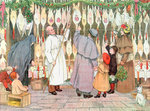 The Poulterer, 1899. From The Book of Shops Wall Art & Canvas Prints by French School