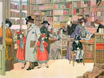 The Book Shop Fine Art Print by American School