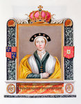 Anne of Cleves, fourth wife and Queen of Henry VIII Fine Art Print by Anselmus van Hulle