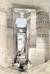 View through the Hall of Columns, Karnak Fine Art Print by William James Muller