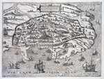 Map of Alexandria Fine Art Print by Theodore de Bry