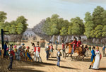 Encampment of the British army in the Bois de Boulogne Fine Art Print by Jacques Francois Joseph Swebach