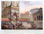 Sacred Festival and Coronation of their Imperial Majesties Fine Art Print by Jacques Francois Joseph Swebach