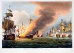 The Battle of Trafalgar Fine Art Print by William Heath