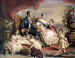 Queen Victoria and Prince Albert with Five of their Children Fine Art Print by Sir John Everett Millais