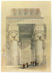 View from under the portico of the Temple at Denderah Fine Art Print by William James Muller