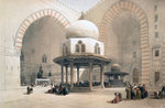 Interior of the Mosque of the Sultan al-Ghuri Fine Art Print by William 'Crimea' Simpson