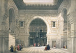 Interior of the Mosque of Sultan Hassan Poster Art Print by William 'Crimea' Simpson