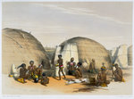 Zulu kraal at Umlazi with huts and screens Fine Art Print by Tilly Willis