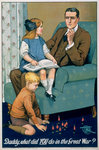 Daddy, What did you do in the Great War? Fine Art Print by Theodore Leblanc