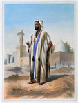 A fellah dressed in a haba Fine Art Print by William 'Crimea' Simpson