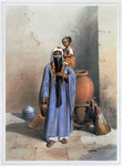 Fellah woman and child Fine Art Print by Fausto Zonaro